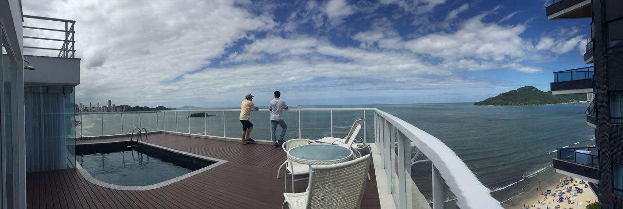 Cobertura Duplex alto padrão de frente para o mar!-104732